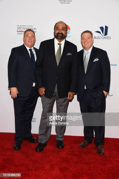 Franco Harris and the Pump brothers attend the 18th Annual Harold and Carole Pump Foundation Gala at The Beverly Hilton Hotel on August 10 2018 in...