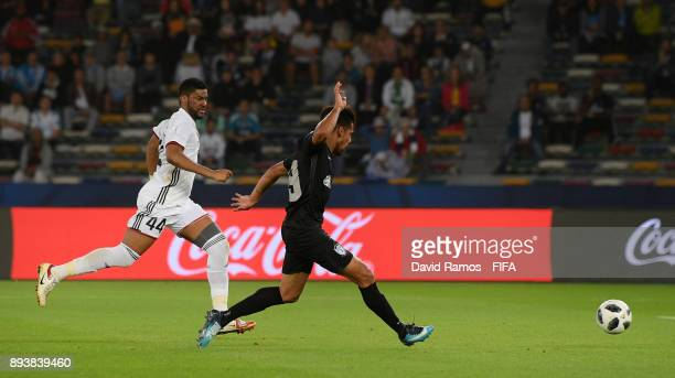 Franco Jara of CF Pachuca scores his sides second goal during the FIFA Club World Cup UAE 2017 third place play off match between Al Jazira and CF...
