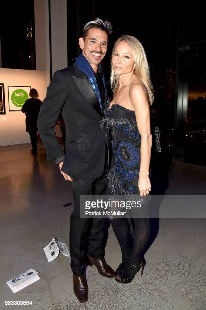 Franco Lacosta and Indira Cesarine attend the 2017 ARTWALK NY Benefiting Coalition for the Homeless at Spring Studios on November 29 2017 in New York...