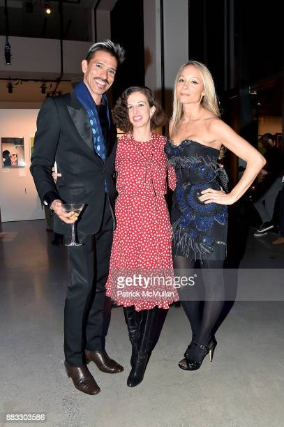 Franco Lacosta Chiara Clemente and Indira Cesarine attend the 2017 ARTWALK NY Benefiting Coalition for the Homeless at Spring Studios on November 29...