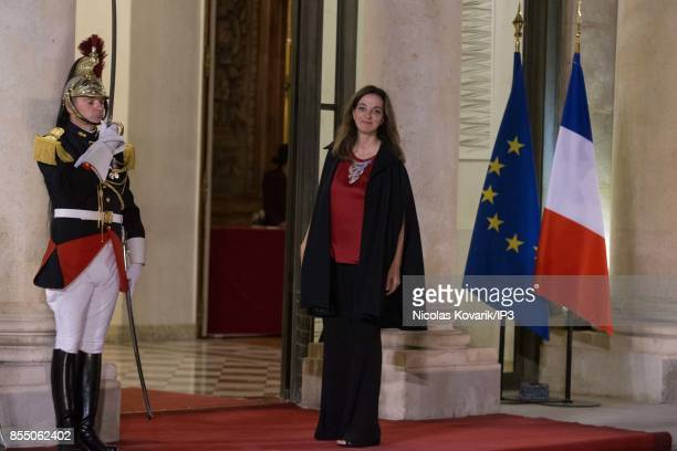 Franco Lebanese TV Host Peri Cochin attends a State dinner offered by French President Emmanuel Macron in honor with Lebanese President Michel Aoun...