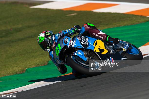 Franco Morbidelli Eg 00 Marc Vds Honda during the tests of the new season MotoGP 2018 Circuit of Ricardo TormoValencia Spain Tuesday 14th of november...