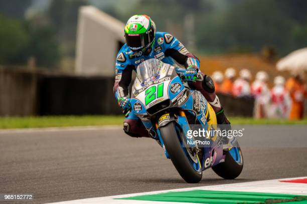 Franco Morbidelli of EG 00 Marc VDS during the 2018 MotoGP Italian Grand Prix Free Practice at Circuito del Mugello Florence Italy on 1 June 2018