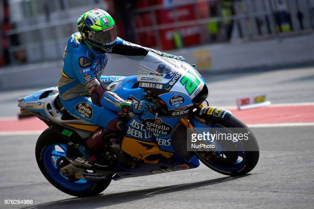 Franco Morbidelli of Italy and Eg 00 Marc VDS Honda during the qualifying of the Gran Premi Monster Energy de Catalunya Circuit of Catalunya Montmelo...