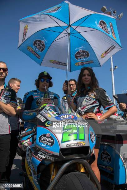 Franco Morbidelli of Italy and EG 00 Marc VDS prepares to start on the grid during the MotoGP race during the MotoGP of San Marino Race at Misano...
