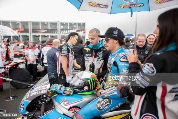 Franco Morbidelli of Italy and EG 00 Marc VDS prepares to start on the grid during the MotoGP race during the MotoGP Of Valencia Race at Ricardo...