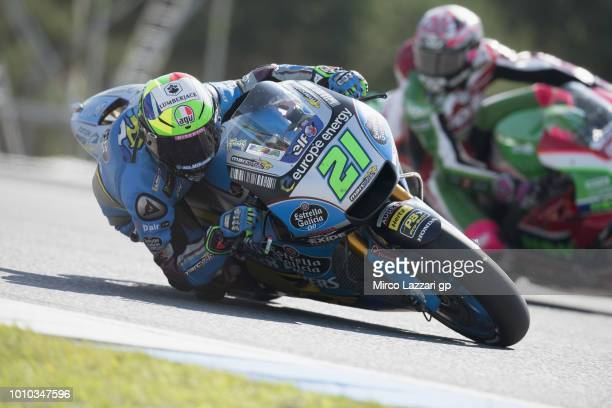 Franco Morbidelli of Italy and EG 00 Marc VDS rounds the bend during the MotoGp of Czech Republic Free Practice at Brno Circuit on August 3 2018 in...
