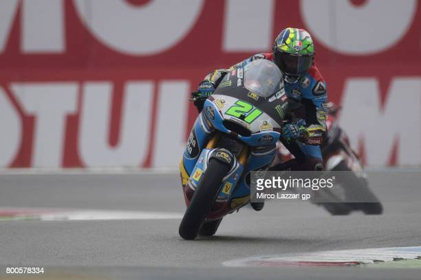 Franco Morbidelli of Italy and EG 00 Marc VDS rounds the bend during the MotoGP Netherlands Qualifying on June 24 2017 in Assen Netherlands