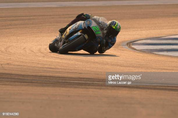 Franco Morbidelli of Italy and EG 00 Marc VDS rounds the bend during the MotoGP Tests In Thailand on February 17 2018 in Buri Ram Thailand