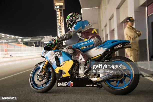 Franco Morbidelli of Italy and EG 00 Marc VDS starts from the pits during the Moto GP Testing Qatar at Losail Circuit on March 2 2018 in Doha Qatar