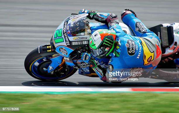 Franco Morbidelli of Italy and EG 00 Marc VDS team rounds the bend during the MotoGP of Catalunya at Circuit de Catalunya on June 17 2018 in Montmelo...