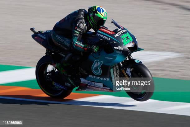 Franco Morbidelli of Italy and Petronas Yamaha SRT during the qualifying of Gran Premio Motul de la Comunitat Valenciana at Ricardo Tormo Circuit on...