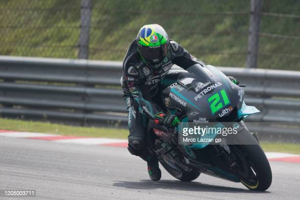 Franco Morbidelli of Italy and Petronas Yamaha SRT heads down a straight during the MotoGP PreSeason Tests at Sepang Circuit on February 09 2020 in...