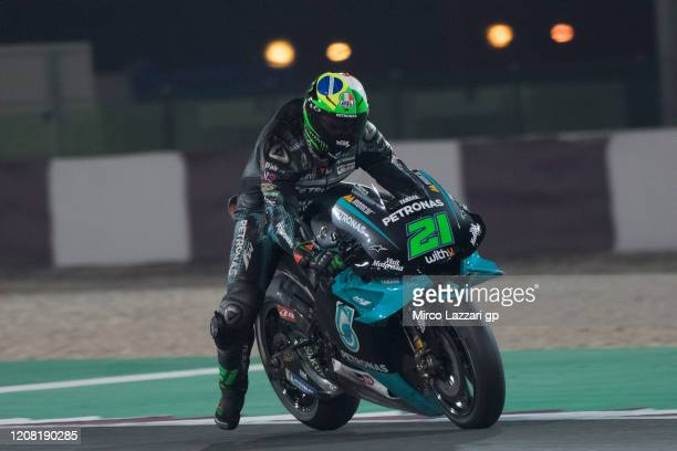 Franco Morbidelli of Italy and Petronas Yamaha SRT heads down a straight during the MotoGP Tests at Losail Circuit on February 23 2020 in Doha Qatar