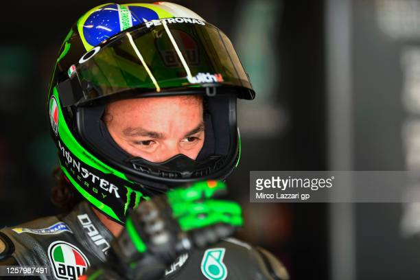 Franco Morbidelli of Italy and Petronas Yamaha SRT prepares to start from box during the MotoGP of Andalucia Free Practice at Circuito de Jerez on...
