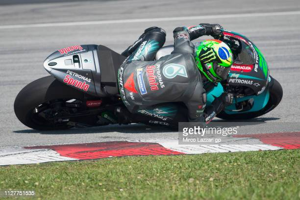 Franco Morbidelli of Italy and Petronas Yamaha SRT rounds the bend during the MotoGP Tests In Sepang at Sepang Circuit on February 06 2019 in Kuala...