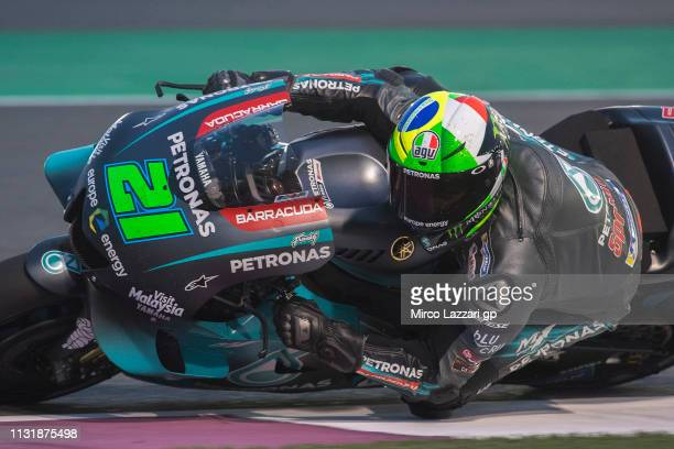 Franco Morbidelli of Italy and Petronas Yamaha SRT rounds the bend during the MotoGP Tests Day Two at Losail Circuit on February 24 2019 in Doha Qatar
