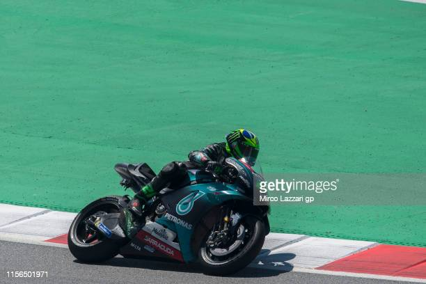 Franco Morbidelli of Italy and Petronas Yamaha SRT rounds the bend during the MotoGp Tests at Circuit de BarcelonaCatalunya on June 17 2019 in...