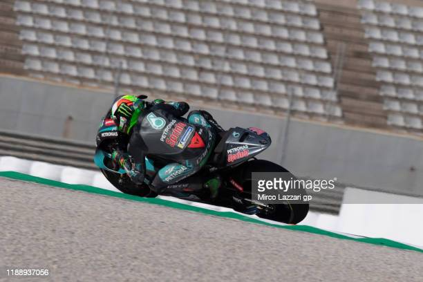 Franco Morbidelli of Italy and Petronas Yamaha SRT rounds the bend during the MotoGP Tests in Valencia at Ricardo Tormo Circuit on November 20 2019...