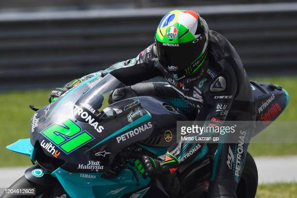 Franco Morbidelli of Italy and Petronas Yamaha SRT rounds the bend during the MotoGP PreSeason Tests at Sepang Circuit on February 07 2020 in Kuala...