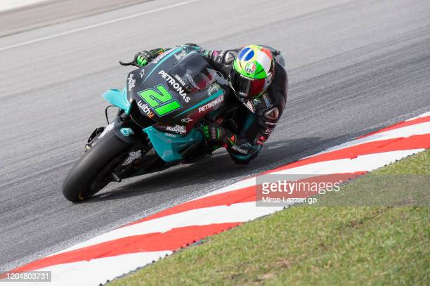 Franco Morbidelli of Italy and Petronas Yamaha SRT rounds the bend during the MotoGP PreSeason Tests at Sepang Circuit on February 08 2020 in Kuala...