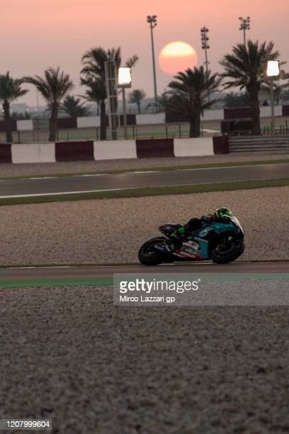 Franco Morbidelli of Italy and Petronas Yamaha SRT rounds the bend during the MotoGP Tests at Losail Circuit on February 22 2020 in Doha Qatar