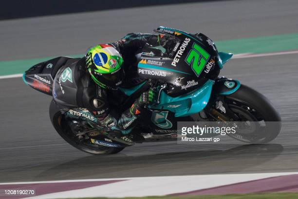 Franco Morbidelli of Italy and Petronas Yamaha SRT rounds the bend during the MotoGP Tests at Losail Circuit on February 23 2020 in Doha Qatar