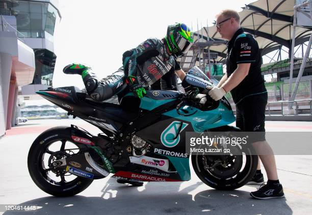 Franco Morbidelli of Italy and Petronas Yamaha SRT starts from box during the MotoGP PreSeason Tests at Sepang Circuit on February 07 2020 in Kuala...