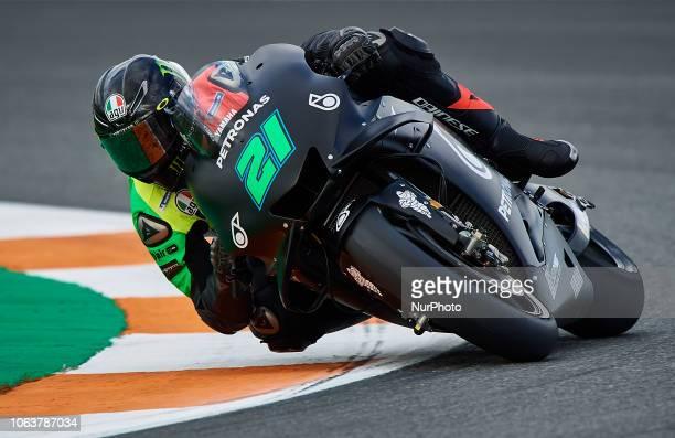Franco Morbidelli of Italy and Petronas Yamaha SRT Yamaha during the test of the new MotoGP season 2019 at Ricardo Tormo Circuit in Valencia Spain on...