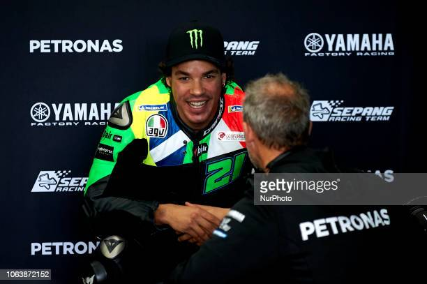 Franco Morbidelli of Italy and Petronas Yamaha SRT Yamaha during the tests of the new MotoGP season 2019 at Ricardo Tormo Circuit in Valencia Spain...