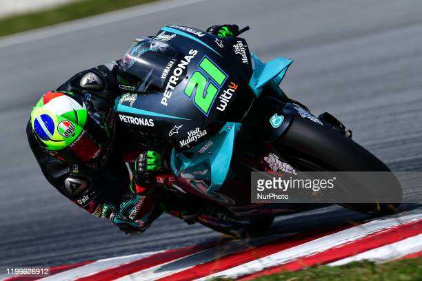 Franco Morbidelli of Petronas Yamaha SRT during day three MotoGP Official Test Sepang 2020 at Sepang International Circuit on February 9 2020 in...