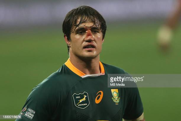 Franco Mostert of South Africa during the 3rd Test between South Africa and the British & Irish Lions at FNB Stadium on August 7, 2021 in...