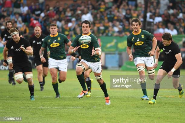 Franco Mostert of the Springboks during the Rugby Championship match between South Africa and New Zealand at Loftus Versfeld on October 06 2018 in...