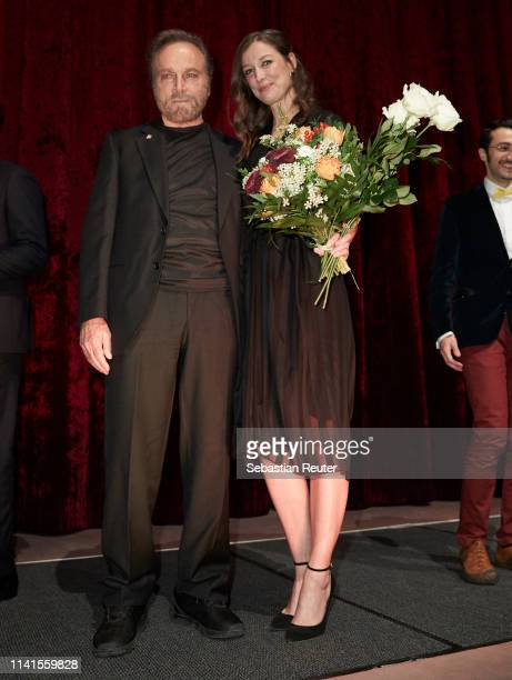 Franco Nero and Alexandra Maria Lara attend the Der Fall Collini premiere at Zoo Palast on April 09 2019 in Berlin Germany