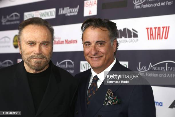 Franco Nero and Andy Garcia attend the 14th Annual Los Angeles Italia Film Fashion And Art Fest Opening Night Gala at TCL Chinese 6 Theatres on...