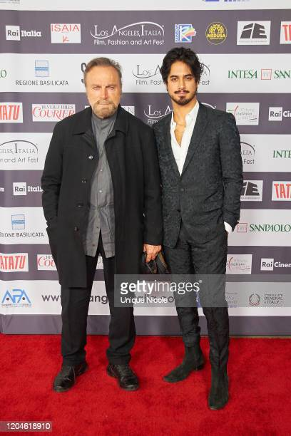 Franco Nero and Avan Jogia attend the 2020 Los Angeles Italia Film Fashion And Art Festival Honors Once Upon A TimeIn Hollywood at TCL Chinese 6...