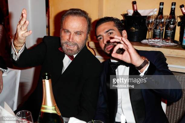 Franco Nero and Elyas M'Barek during the 46th German Film Ball at Hotel Bayerischer Hof on January 26 2019 in Munich Germany