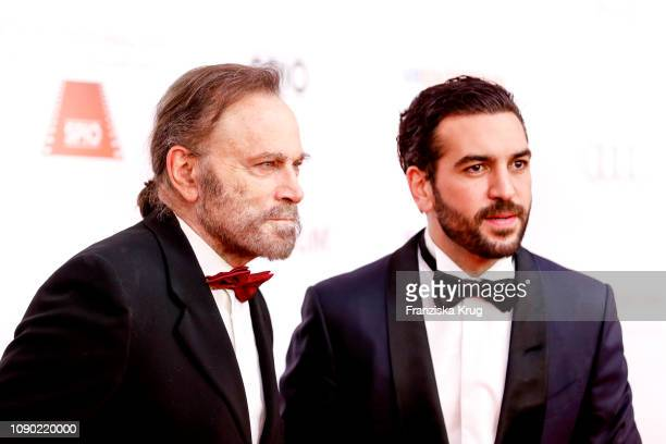 Franco Nero and Elyas MBarek during the 46th German Film Ball at Hotel Bayerischer Hof on January 26 2019 in Munich Germany
