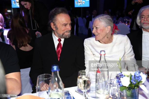 Franco Nero and his wife Vanessa Redgrave during the Cinema For Peace Gala at Westhafen Event Convention Center on February 23 2019 in Berlin Germany