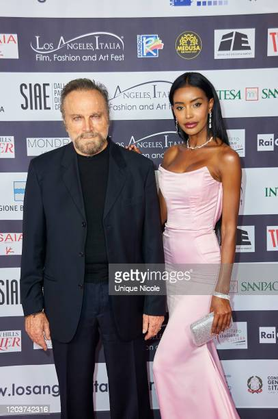 Franco Nero and Maylin Aguirre attend the 2020 Los Angeles Italia Film Fashion And Art Festival Opening Night at TCL Chinese 6 Theatres on February...