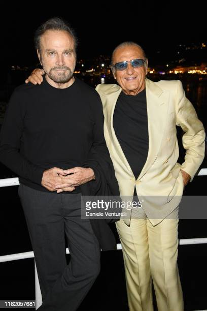Franco Nero and Tony Renis attends the 2019 Ischia Global Film Music Fest opening ceremony on July 14 2019 in Ischia Italy