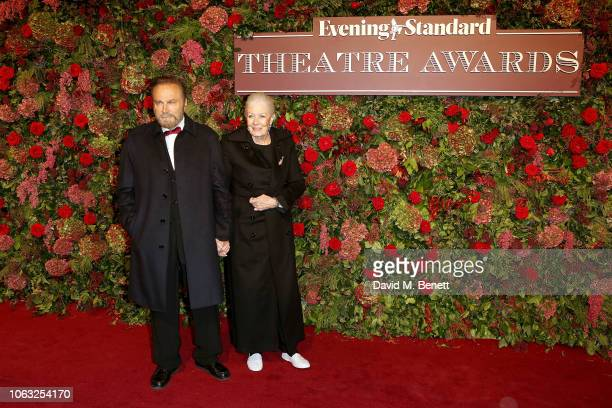 Franco Nero and Vanessa Redgrave arrive at The 64th Evening Standard Theatre Awards at the Theatre Royal Drury Lane on November 18 2018 in London...