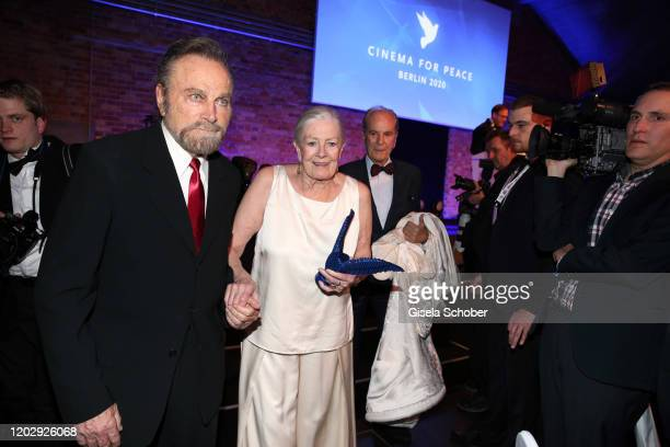 Franco Nero and Vanessa Redgrave during the Cinema For Peace Gala at Westhafen Event Convention Center on February 23 2019 in Berlin Germany