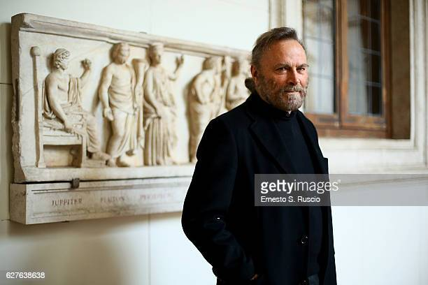 Franco Nero attends the Songs Of Stone' By Gabriele Tinti at Museo Nazionale Romano Palazzo Altemps on December 4, 2016 in Rome, Italy.