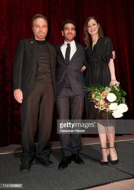 Franco Nero Elyas M'Barek and Alexandra Maria Lara attend the Der Fall Collini premiere at Zoo Palast on April 09 2019 in Berlin Germany