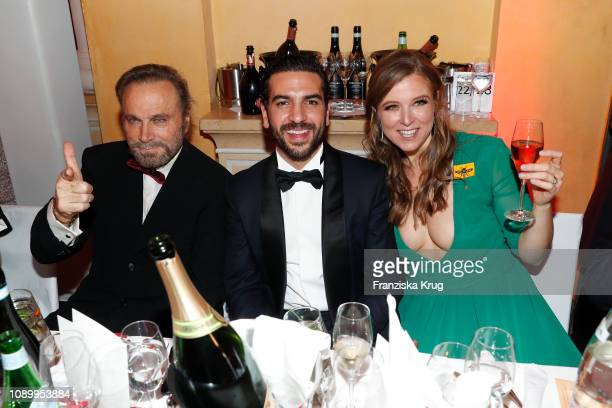 Franco Nero Elyas M'Barek and Nina Eichinger during the 46th German Film Ball at Hotel Bayerischer Hof on January 26 2019 in Munich Germany