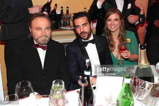 Franco Nero Elyas M'Barek Nina Eichinger during the 46th German Film Ball party at Hotel Bayerischer Hof on January 26 2019 in Munich Germany