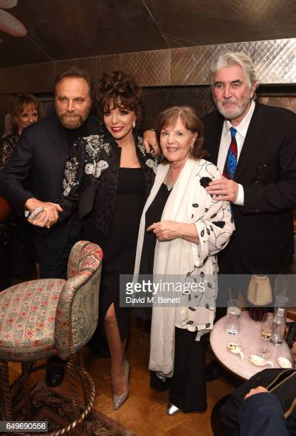 Franco Nero Joan Collins Pauline Collins and John Alderton attend the World Premiere after party for The Time Of Their Lives at 5 Hertford Street on...