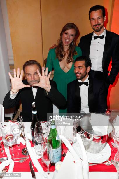Franco Nero Nina Eichinger Elyas M' Barek and Florian David Fitz during the 46th German Film Ball at Hotel Bayerischer Hof on January 26 2019 in...