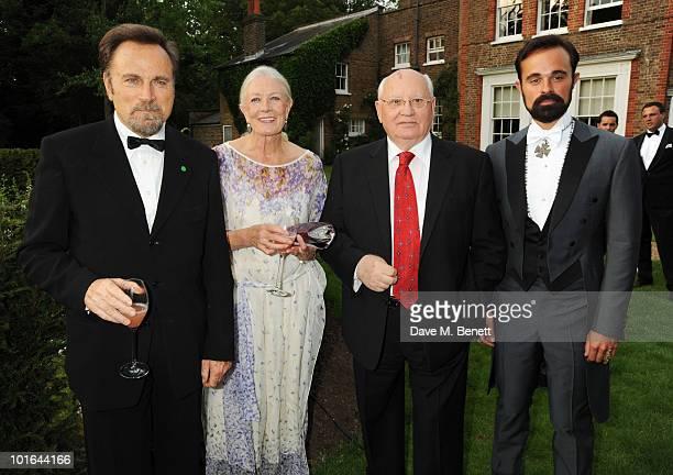 Franco Nero Vanessa Redgrave Mikhail Gorbachev and Evgeny Lebedev attend the Raisa Gorbachev Foundation Party at Stud House Hampton Court Palace on...